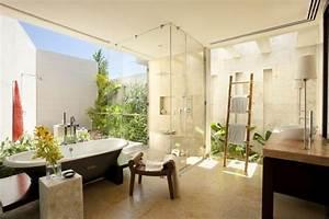 petit jardin d39interieur moderne ouvert et ferme en 49 images With salle de bain design avec eolienne de jardin décoration