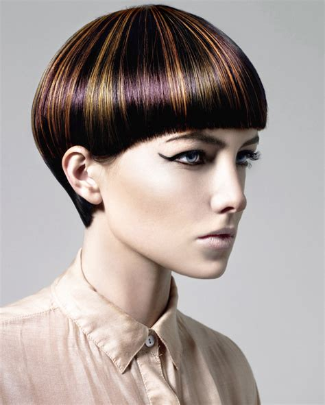 short haircut   daring hair color pattern