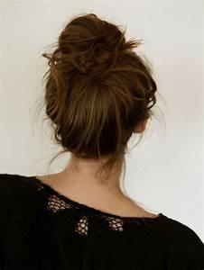 Chignon Cheveux Mi Long : tuto coiffure cheveux mi long et long en 9 id es faciles ~ Melissatoandfro.com Idées de Décoration