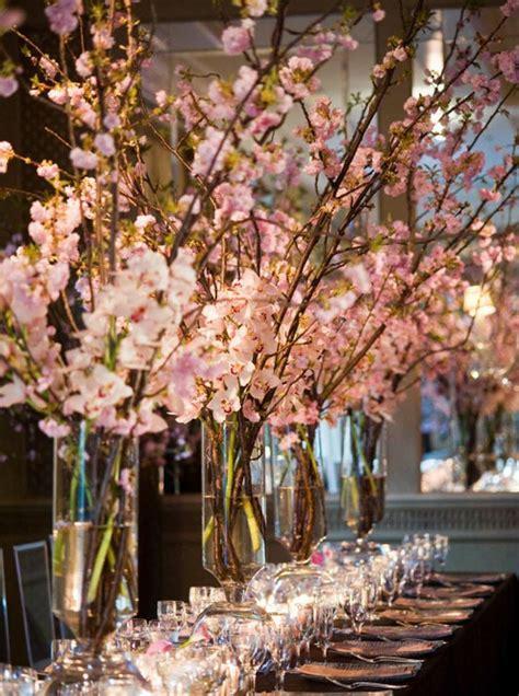 cherry blossom centerpieces #cherryblossom #springwedding
