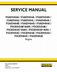 New Holland F5a  C  D  H Engines Series Pdf Service Manuals