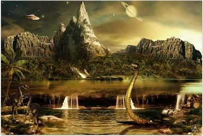 Dinosaurs Background Prehistoric Landscape Wallpapers Dinosaur Dino