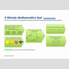 1 X 5 Minute Mixed Maths Test Y6 Sats Preparation By Roxanne50  Teaching Resources Tes