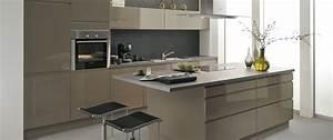 cuisine aviva avior gris beige pas cher sur cuisine With cuisine beige et gris