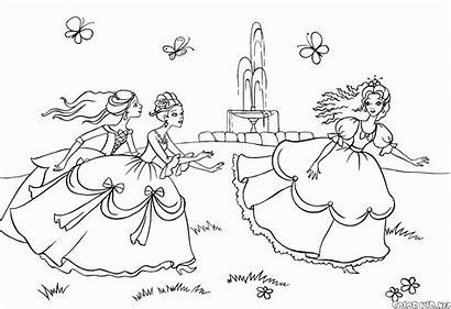 Coloring Pages Fairy Games Princesses Tale Colorkid