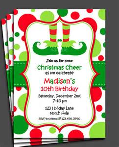 Elf Christmas Party Invitation Templates