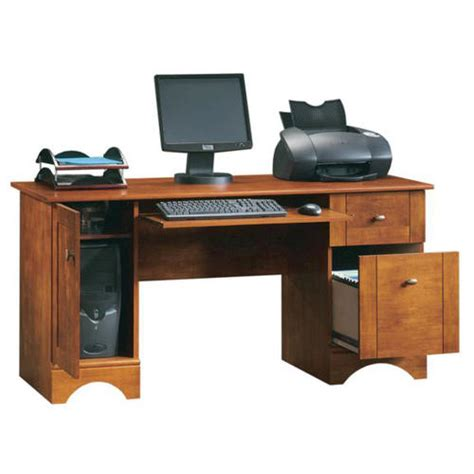 menards sauder computer desk sauder bradford brushed maple computer desk at menards 174