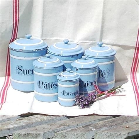 blue and white kitchen canisters blue and white kitchen canisters vintage french enamel storage ja