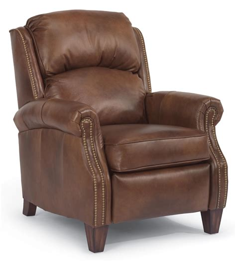 High Leg Recliner by Flexsteel Whistler Traditional High Leg Recliner With Nail