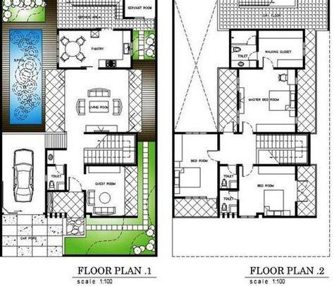 denah rumah  lantai  kolam renang