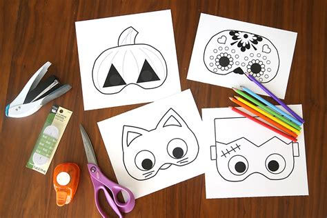 Halloween Masks To Print And Color  It's Always Autumn