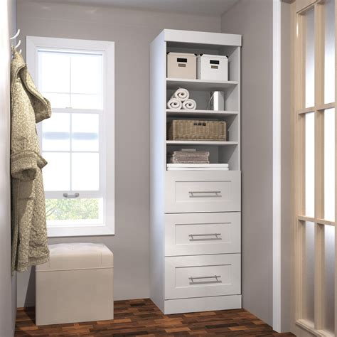Closet Tower With Drawers by Pur By Bestar 26871 25 In 3 Drawer Storage Tower Wood