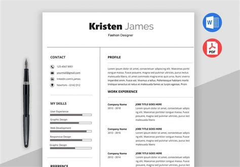 Sle Resume Template by Race Simple Professional Resume Template Maxresumes