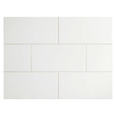 nori ceramic collection subway tile white gloss 3 quot x 6 quot