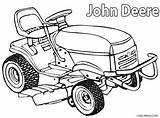 Coloring Deere John Pages Mower Lawn Printable Cool2bkids sketch template