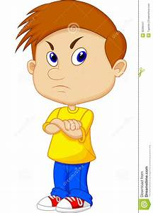 Angry boy cartoon stock vector. Illustration of people ...