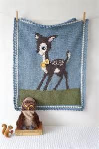 Deer Baby Blanket Crochet Pattern