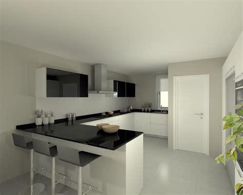 modelo   blanco encimera granito negro cocinas