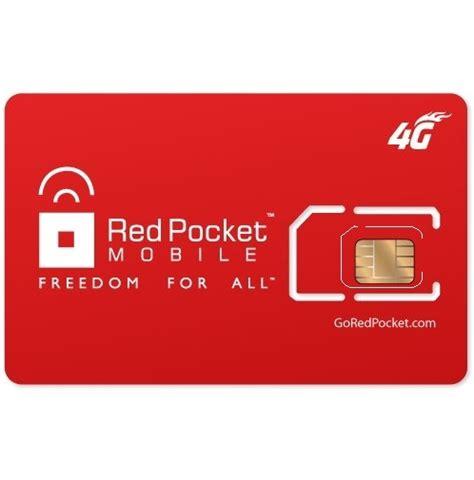 wholesale red pocket gsm  mobile sim dual cut standard