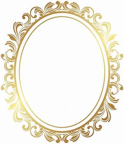 Oval Border Frame Clip Deco Transparent Yopriceville