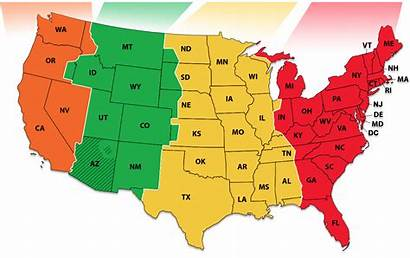 Zones States Map Zone Mountain Nist National