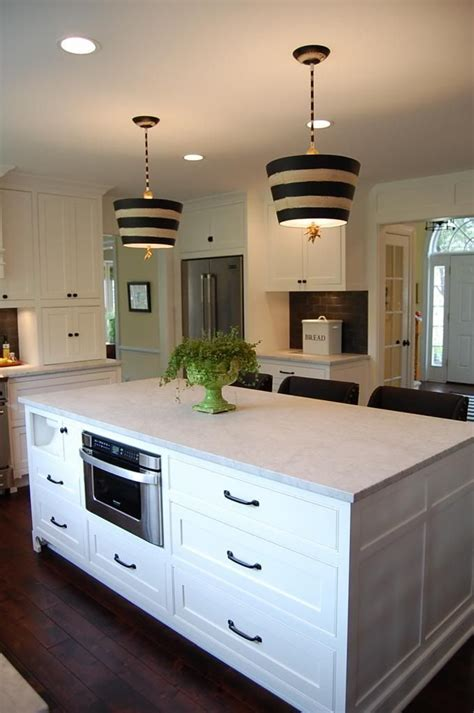 kitchen island  hidden paper towel holder microwave