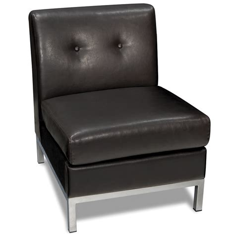 office wall armless chair espresso faux