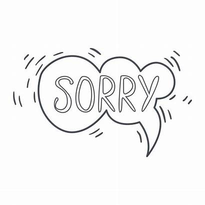 Sorry Word Bubble Speech Clipart Comic Template