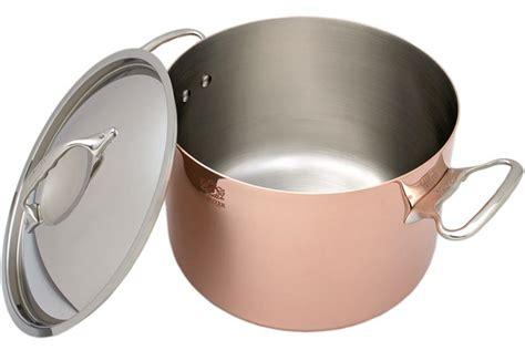 de buyer prima matera copper roasting pan  cm stainless