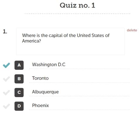 create printable quiz free quizzy