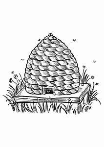 Coloriage d39une jolie ruche d39abeille hugolescargotcom for Dessin maison en ligne 19 une ruche dans son jardin