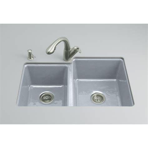 kohler kitchen sinks undermount shop kohler clarity basin undermount enameled cast 6697