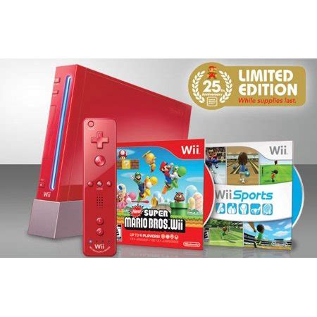 Nintendo Wii Console New by Nintendo Wii 25 Anniversary Edition Console With New