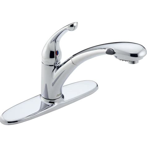 single handle kitchen faucet with pullout spray delta signature single handle pull out sprayer kitchen
