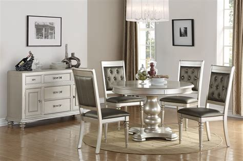 silver dining table  poundex