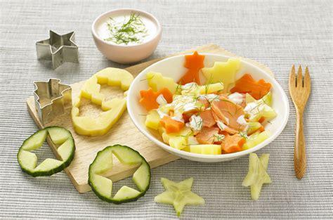 cuisine de bebe salade tiède d étoiles truite et crème citron cuisine de bébé