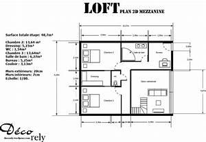 Cuisine Sejour Meme Piece : cuisine sejour meme piece 3 loft les plans 2d ~ Zukunftsfamilie.com Idées de Décoration