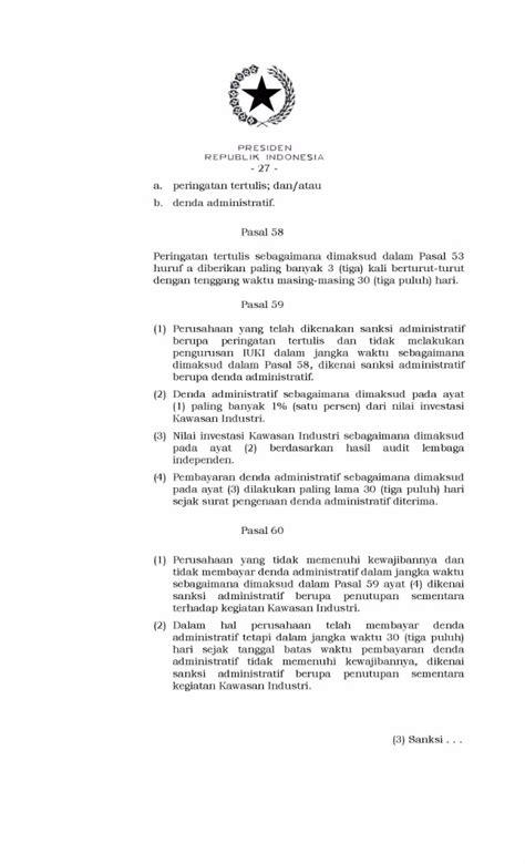 Peraturan Pemerintah Republik Indonesia Nomor 142 Tahun