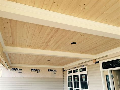 knotty pine tg   porch ceiling installed  moffit