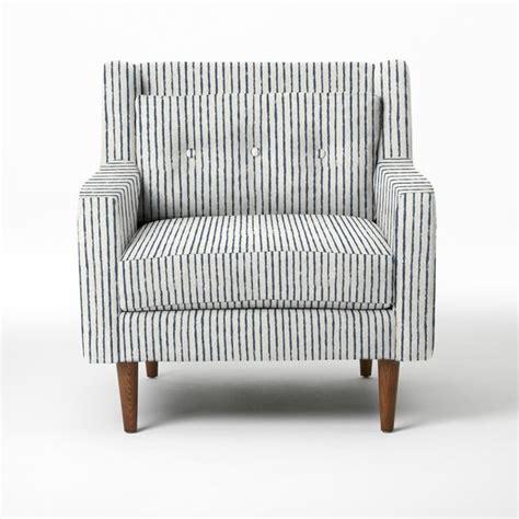 crosby armchair painted stripe regal blue modern