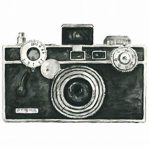 Black and White Vintage Camera Clipart - The Cliparts