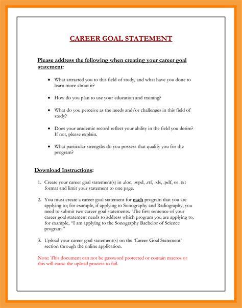 9 career goals exles resume pdf