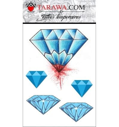 Tatouage Temporaire Diamant Couleur Old School  Tarawa Tattoo