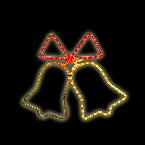 flashing twin bell rope light outdoor christmas xmas