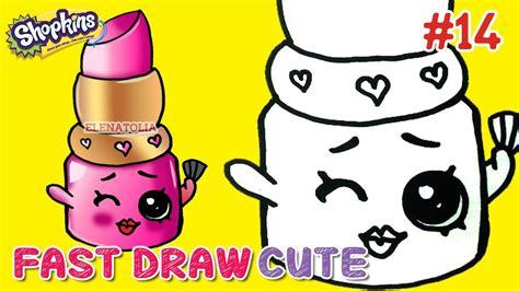 easy drawings   draw shopkins season  lippy lips