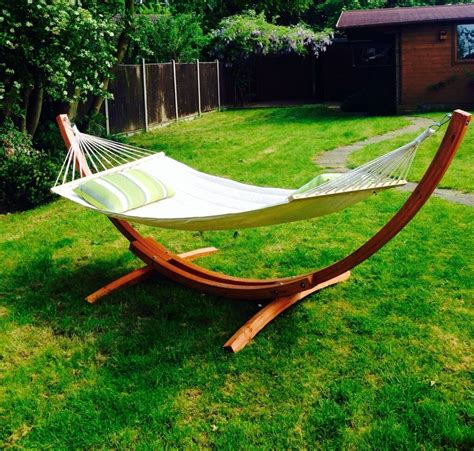 Bow Hammock by Wooden Bow Hammock This Is A Contemporary Larch Wood Bow