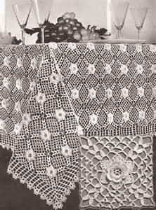 vintage irish rose crochet motif tablecloth pattern ebay