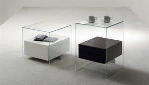 Table De Chevet Design : table de chevet design en verre ~ Teatrodelosmanantiales.com Idées de Décoration