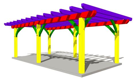 house plans with outdoor living 12x24 pergola plan timber frame hq