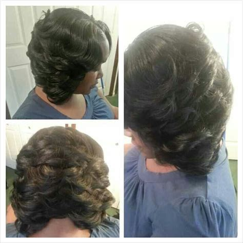 Partial Sew In Weave Hairstyles by Partial Sew In Razor Cut Bob Hair And Makeup By Nae